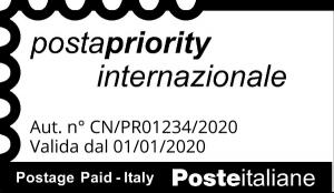 Timbro Posta Priority Internazionale