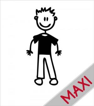 Papà con maglietta - Maxi Adesivi Famiglia per Camper