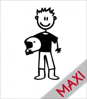 Papà con casco - Maxi Adesivi Famiglia per Camper