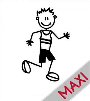 Papà corridore - Maxi Adesivi Famiglia per Camper