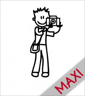 Papà fotografo - Maxi Adesivi Famiglia per Camper