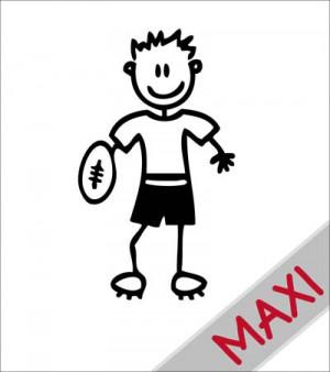 Papà rugby - Maxi Adesivi Famiglia per Camper