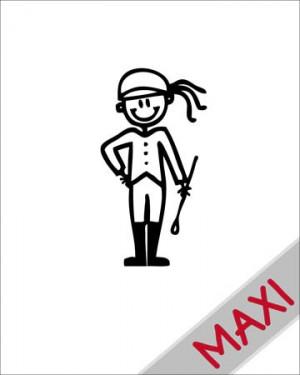 Bambina cavallerizza - Maxi Adesivi Famiglia per Camper