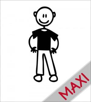 Papà senza capelli - Maxi Adesivi Famiglia per Camper