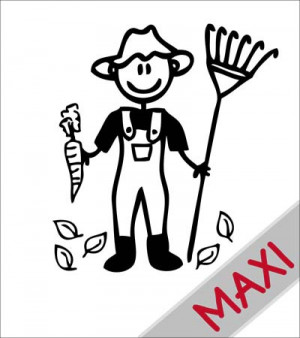 Papà giardiniere - Maxi Adesivi Famiglia per Camper