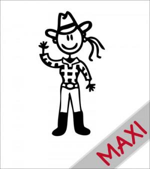 Mamma cowgirl - Maxi Adesivi Famiglia per camper