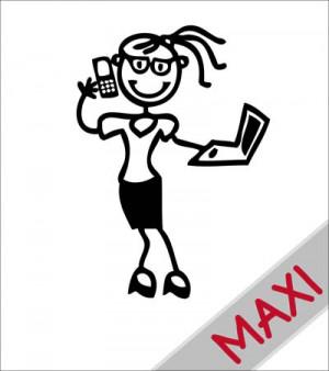 Mamma tecnologica - Maxi Adesivi Famiglia per camper