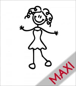 Mamma con abito - Maxi Adesivi Famiglia per camper