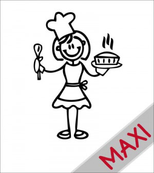 Mamma cuoca - Maxi Adesivi Famiglia per camper
