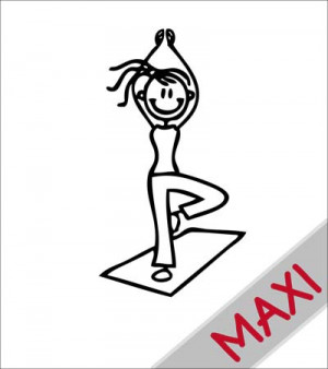 Mamma yoga - Maxi Adesivi Famiglia per camper