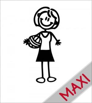 Mamma pallavolista - Maxi Adesivi Famiglia per camper