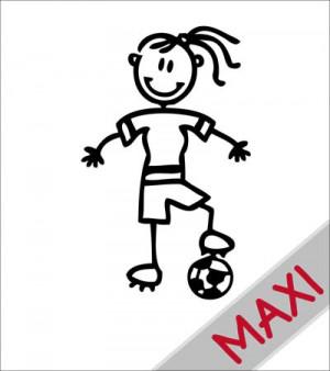 Mamma calciatrice - Maxi Adesivi Famiglia per camper