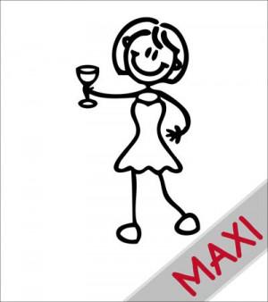 Mamma con aperitivo - Maxi Adesivi Famiglia per camper