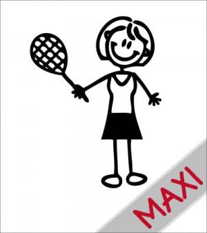 Mamma tennista - Maxi Adesivi Famiglia per camper