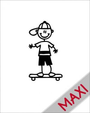 Bambino su skateboard - Maxi Adesivi Famiglia per Camper
