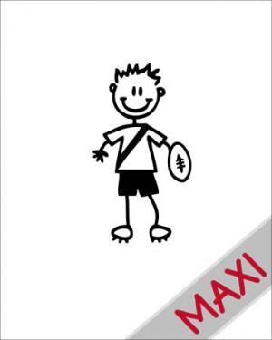 Bambino rugby - Maxi Adesivi Famiglia per Camper