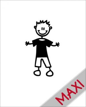 Bambino con maglietta - Maxi Adesivi Famiglia per Camper
