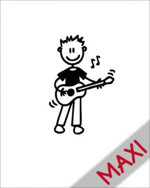 Bambino con la chitarra - Maxi Adesivi Famiglia per Camper
