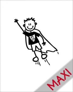 Bambino supereroe - Maxi Adesivi Famiglia per Camper