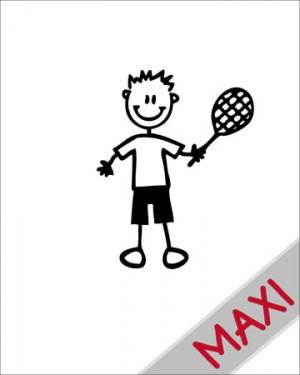 Bambino tennista - Maxi Adesivi Famiglia per Camper
