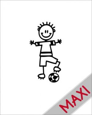 Bambino col pallone - Maxi Adesivi Famiglia per Camper