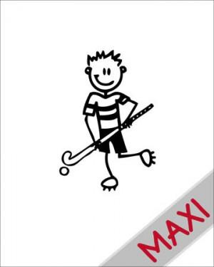 Bambino hockey 2 - Maxi Adesivi Famiglia per Camper