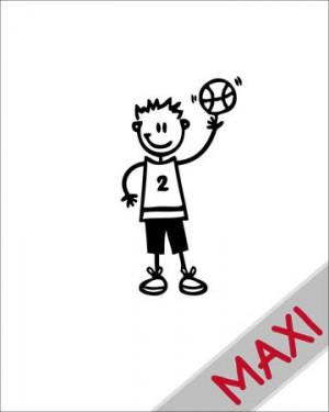 Bambino basket - Maxi Adesivi Famiglia per Camper
