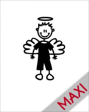 Bambino angioletto - Maxi Adesivi Famiglia per Camper