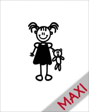 Bambina con orsacchiotto - Maxi Adesivi Famiglia per Camper