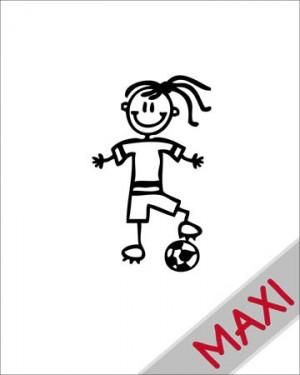 Bambina calciatrice - Maxi Adesivi Famiglia per Camper