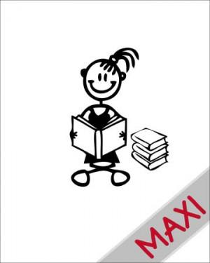 Bambina con libri - Maxi Adesivi Famiglia per Camper