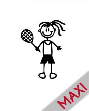 Bambina tennis - Maxi Adesivi Famiglia per Camper