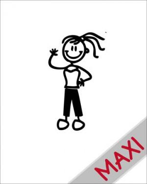Bambina sportiva - Maxi Adesivi Famiglia per Camper