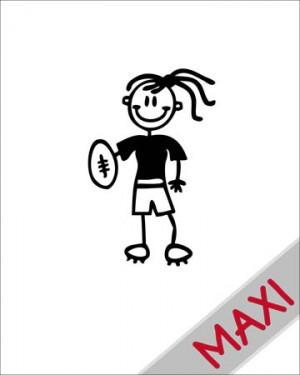 Bambina football - Maxi Adesivi Famiglia per Camper