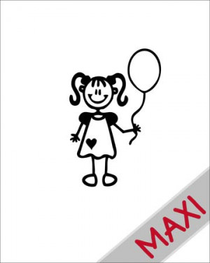 Bambina con palloncino - Maxi Adesivi Famiglia per Camper