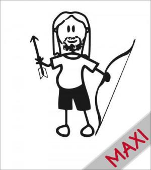 Papà arciere - Maxi Adesivi Famiglia per Camper