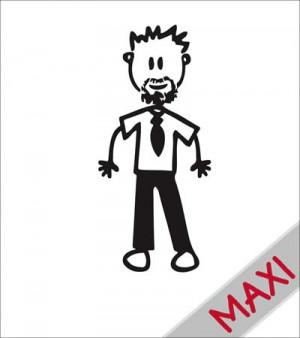 Papà con la barba - Maxi Adesivi Famiglia per Camper