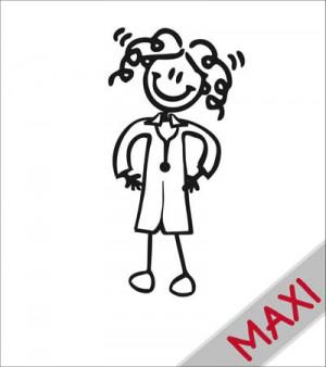 Mamma dottoressa - Maxi Adesivi Famiglia per camper