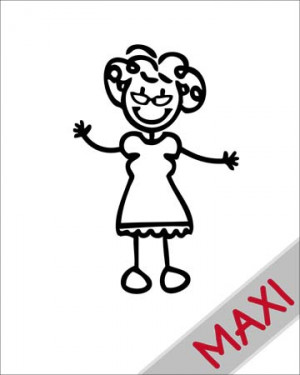 Nonna con occhiali - Maxi Adesivi Famiglia per Camper