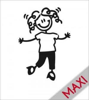 Mamma cicciottella - Maxi Adesivi Famiglia per camper