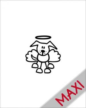 Cane angioletto - Maxi Adesivi Famiglia per Camper