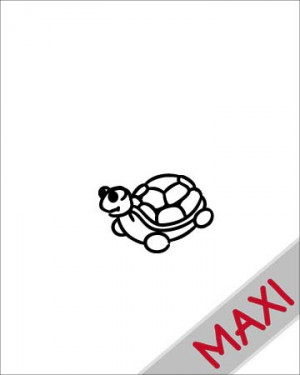 Tartaruga - Maxi Adesivi Famiglia per Camper