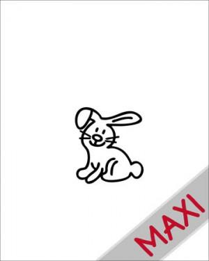 Coniglio - Maxi Adesivi Famiglia per Camper