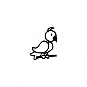 Uccello - Adesivi Famiglia