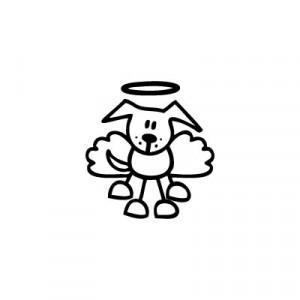 Cane angioletto - Adesivi Famiglia