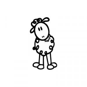 Pecorella - Adesivi Famiglia