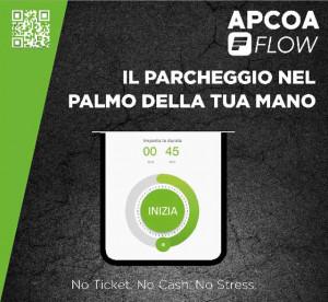 """Contrassegno """"APCOA Flow Parking"""" (Modello A)"""