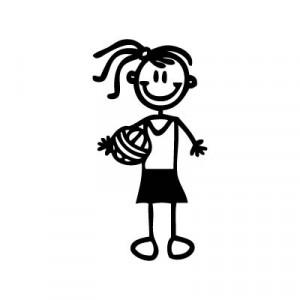 Bambina pallavolo - Adesivi Famiglia