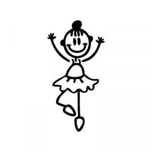Bambina ballerina - Adesivi Famiglia