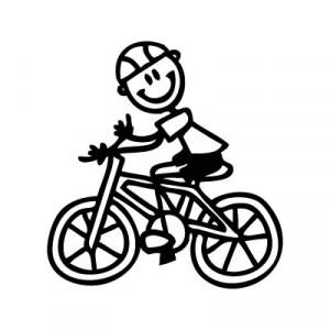 Bambino in bicicletta - Adesivi Famiglia